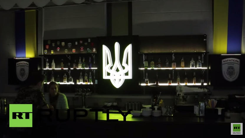 """In diesem Kiewer Lokal gibt es """"gegrillte Milizen"""""""