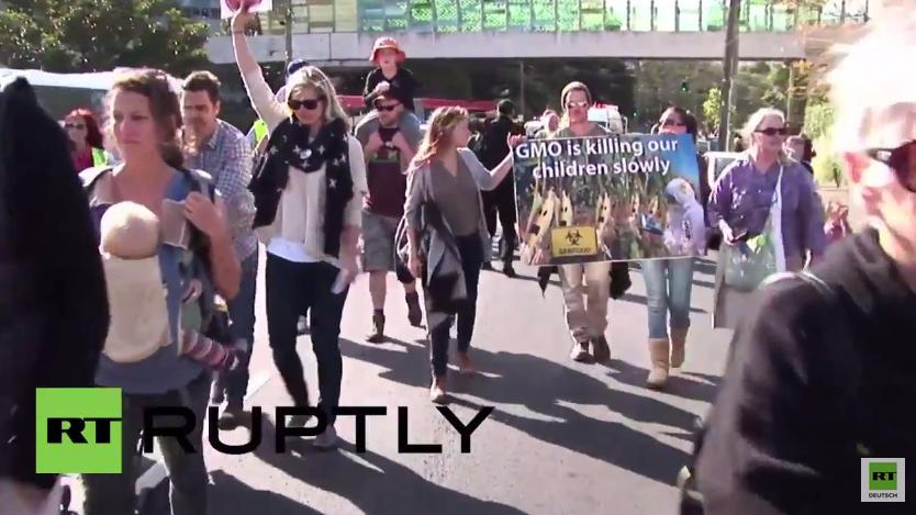 Jährlicher internationaler Protestmarsch gegen Monsanto auch in Australien