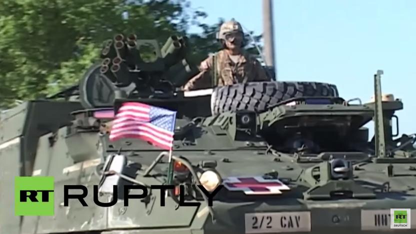 """Rumänien: US Truppen starten Auftakt zum """"Kavallerie Marsch"""""""