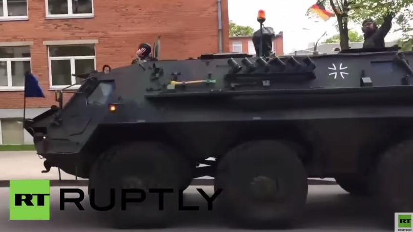 Litauen: Deutsche und US-amerikanische Panzer werden für NATO-Übung in Stellung gebracht