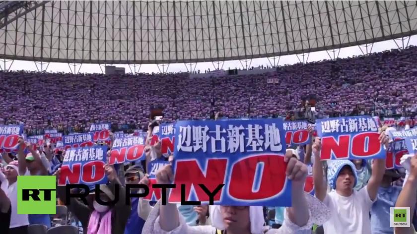 Japan: Über 37.000 Menschen demonstrieren gegen US-Militärbasis in Okinawa