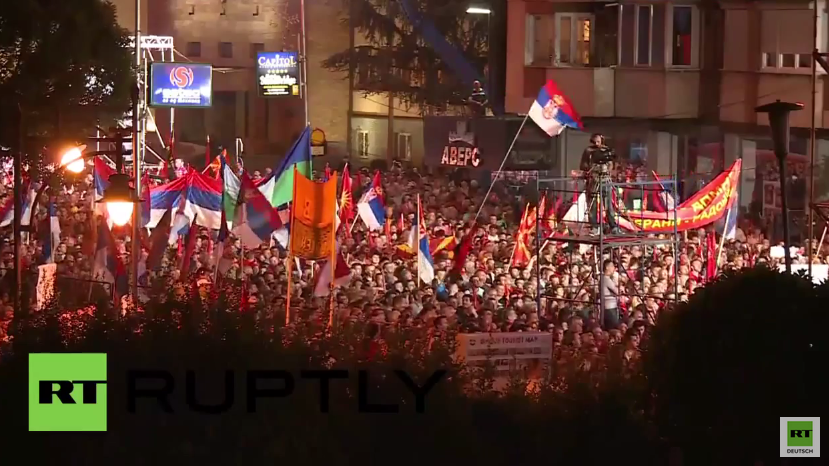 Mazedonien: Tausende nehmen an Kundgebung für Ministerpräsident Gruevski teil