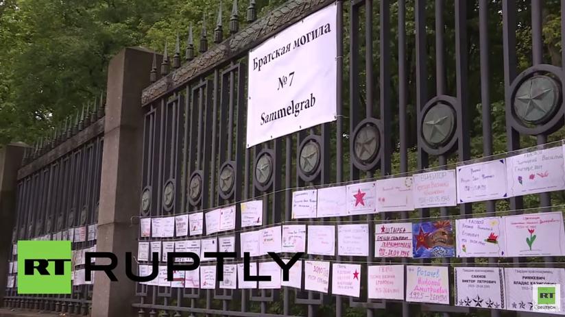 Berlin: Tribut für die gefallenen Soldaten der Roten Armee im Treptower Park