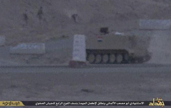 Einem Propagandavideo des IS zufolge soll Mark K. bei seinem Terroranschlag in diesem Schützenpanzer gesessen haben.