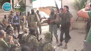 Quelle: Sceenshot aus einem Propaganda-Video der al-Nusra-Front bei Ariha