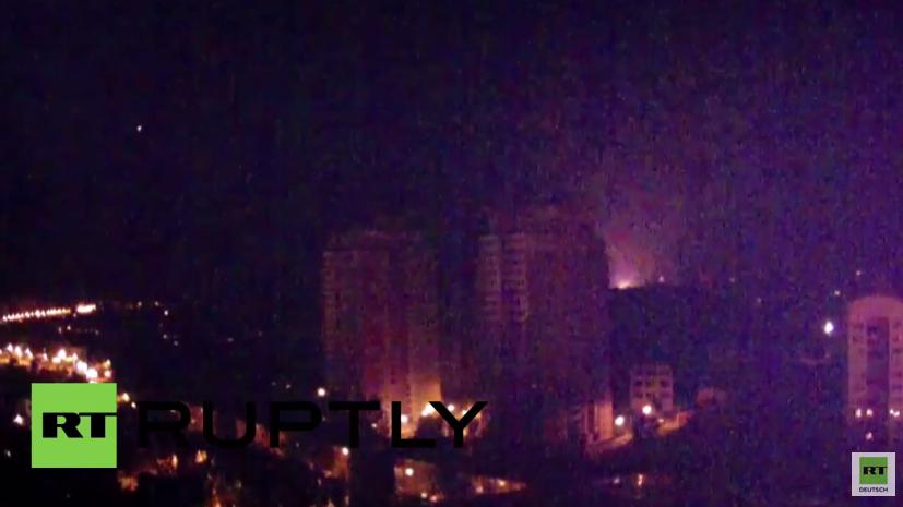 Donezk: Der Beschuss geht weiter - Bilder von heute Abend