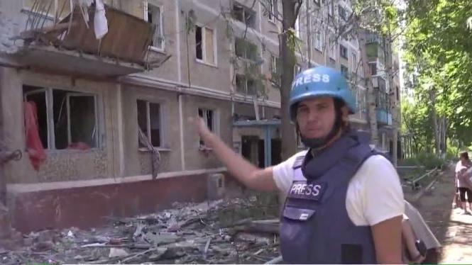 Erneuter Beschuss von Wohngebäuden in Donezk: Drei Tote