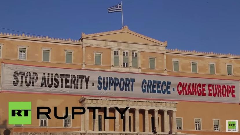 Griechenland: Tausende, auch die Linke aus Deutschland, demonstrieren gegen Sparpolitik