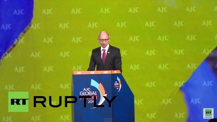 Rede von Jazenjuk vor AJC-Global Forum in Washington: Wir stehen vor einem echten Krieg mit Russland