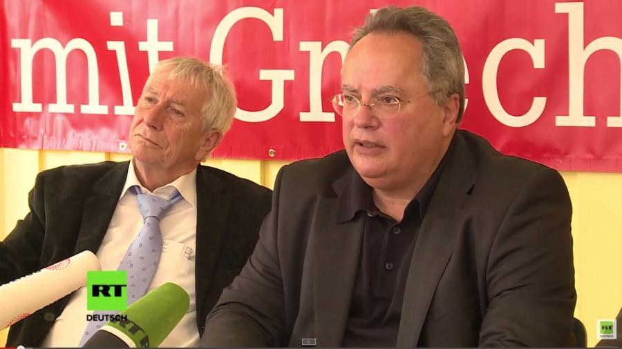Pressekonferenz des griechischen Außenministers in Marburg: Reformen ja – Abschaffung der Arbeitnehmerrechte nein