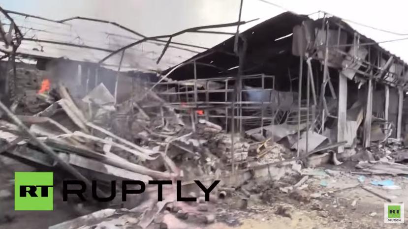Ukraine: Erneuter Beschuss setzt mehrere Gebäude in Brand – Mindestens vier Menschen sterben