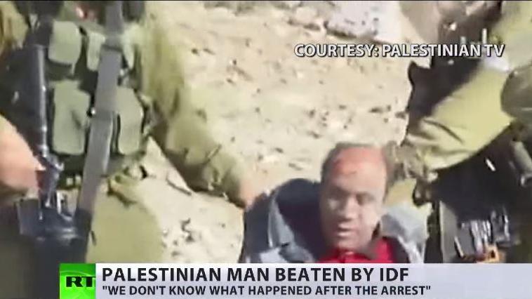 Auf dem Weg zum Freitagsgebet - Israelische Soldaten schlagen mutwillig Palästinenser zusammen