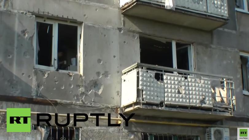 Ukraine: Gorlowka letzte Nacht schon wieder unter Beschuss