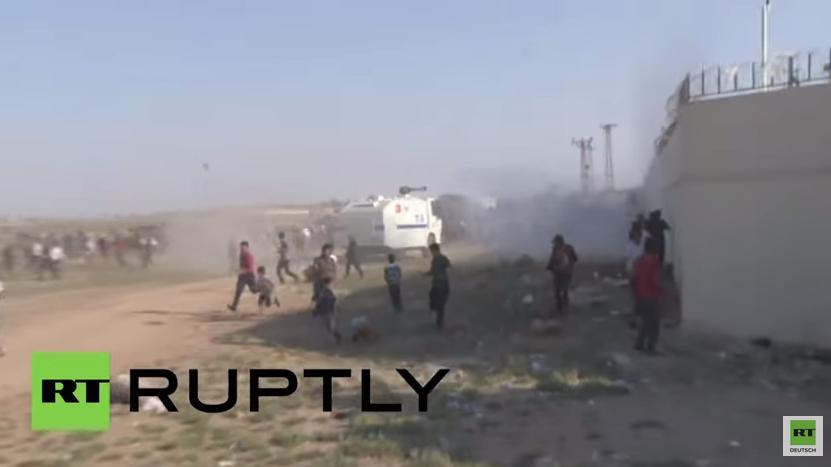 Türkei: Grenzpolizei setzt Wasserwerfer gegen syrische Flüchtlinge ein