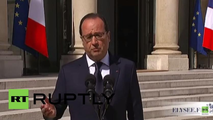 Francois Hollande: Griechisches Referendum souveräne Entscheidung - Das ist Demokratie