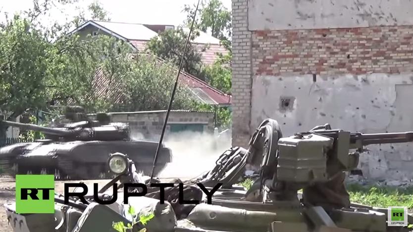 Ukraine: Panzerschlacht unweit des Flughafens von Donezk ausgebrochen
