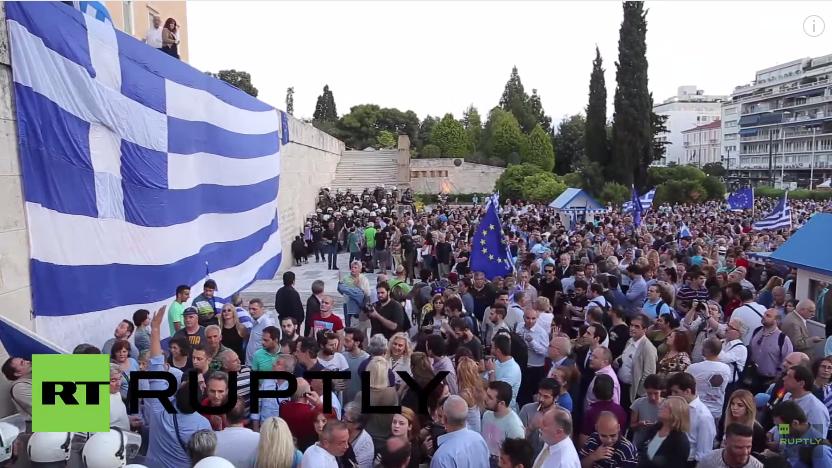 Live: Befürworter der EU-Reformen demonstrieren vor griechischem Parlament in Athen