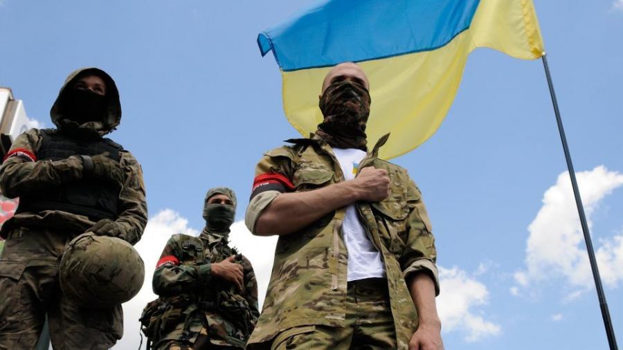 """Rechter Sektor in der Ukraine ruft zur """"vollständigen Mobilisierung"""" auf:  """"Alles für den Krieg, alles für den Sieg!"""""""