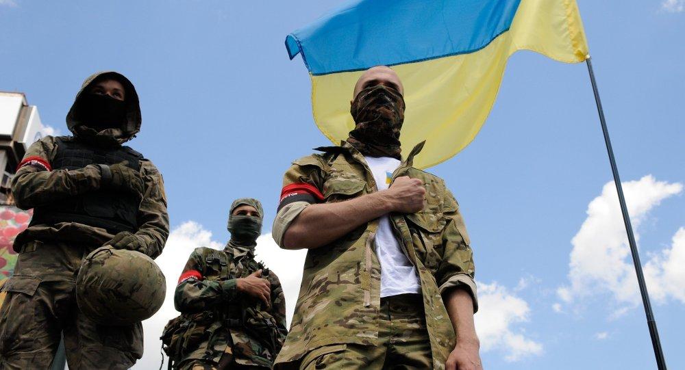"""Auch lesen:Rechter Sektor in der Ukraine ruft zur """"vollständigen Mobilisierung"""" auf: """"Alles für den Krieg, alles für den Sieg!"""""""