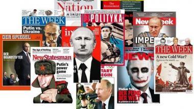 Nicht nur in Deutschland: Einseitige Titelseiten verschiedener Printmagazine. Quelle: medien-luegen.blogspot.com