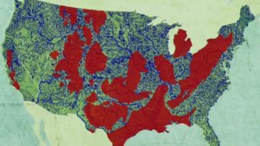 Fracking-Gebiete in den USA - Quelle: rebellion.org