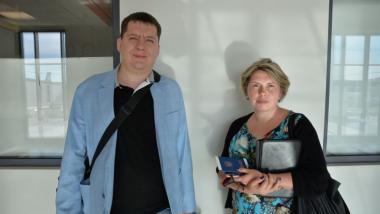 Kyrylo Shevchuk und Nadiia Melnychenko -Foto: Ulrich Heyden