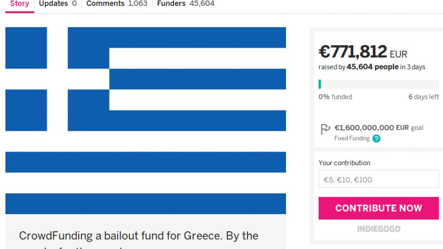 Kein Vertrauen mehr in EU, EZB und IWF: Brite will Griechenland per Crowdfundig retten