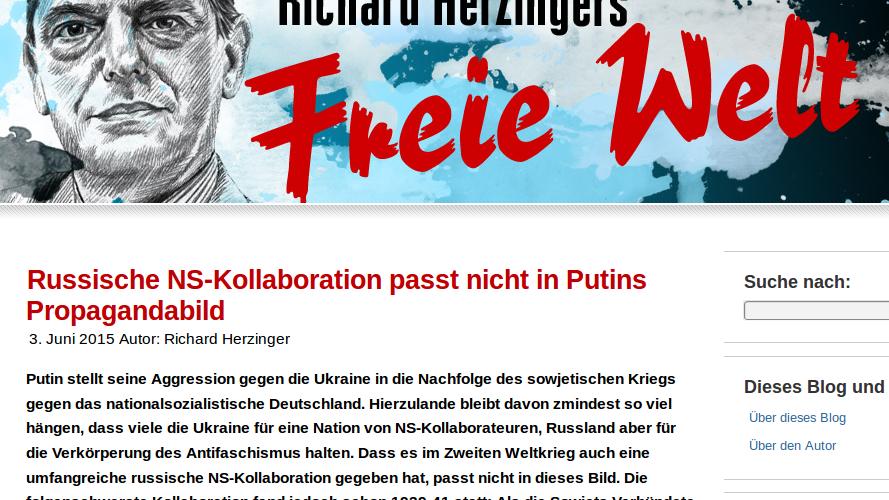 Die schlimmsten deutschen Medien-Lügner - Teil zwei: Welt-Korrespondent Richard Herzinger