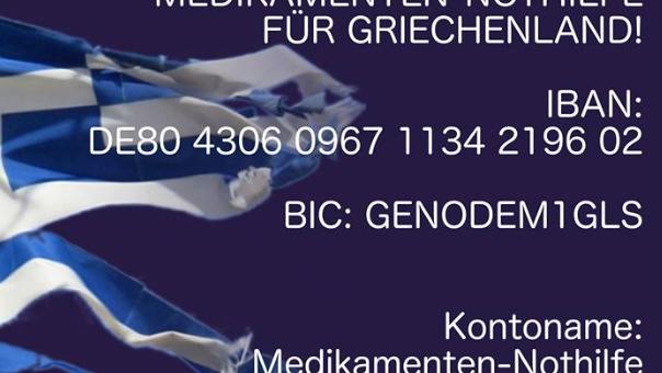 """Medikamenten-Nothilfe für Griechenland: """"Wir brauchen akut die Hilfe unserer deutschen und europäischen Freunde"""""""