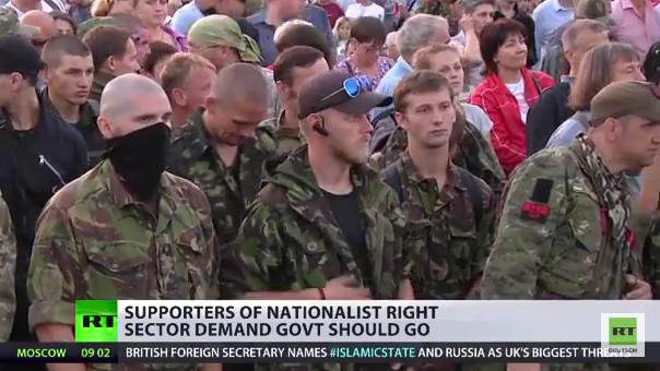 Rechter Sektor auf dem Maidan: 6000 Rechtsradikale demonstrieren gegen Kiewer Regierung