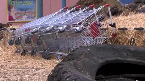 """""""Zu billig"""" - Französische Bauern blockieren deutsche Lebensmittel-Einfuhren"""