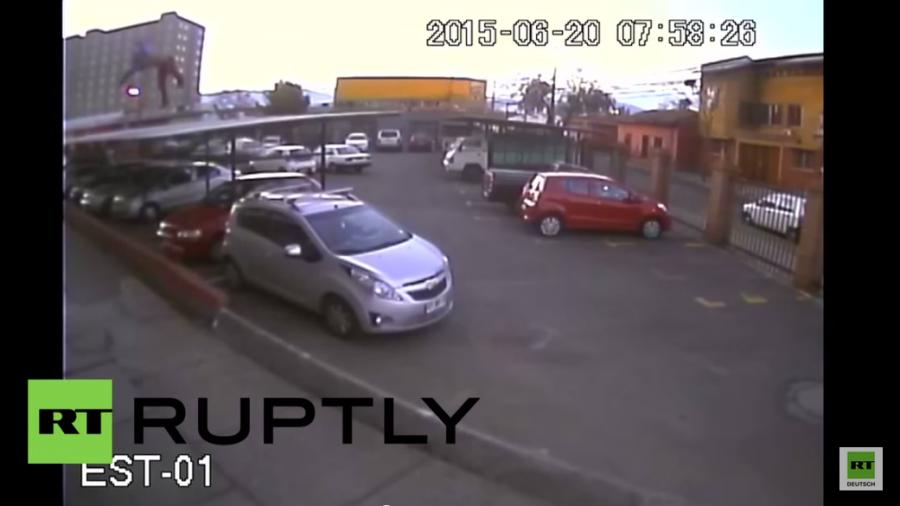 Chile: Video zeigt Sturz aus dem 17. Stock - Der junge Mann hat überlebt
