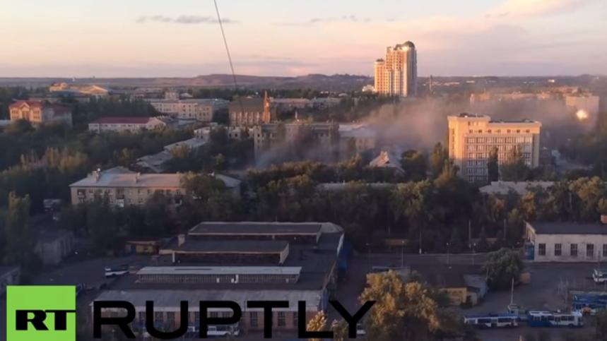 Wieder heftig unter Beschuss – Donezk kommt nicht zur Ruhe