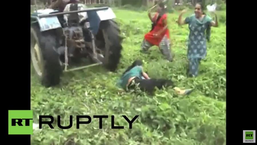 Indien: Grundstücksstreit eskaliert – Frau fährt mit Traktor Amok