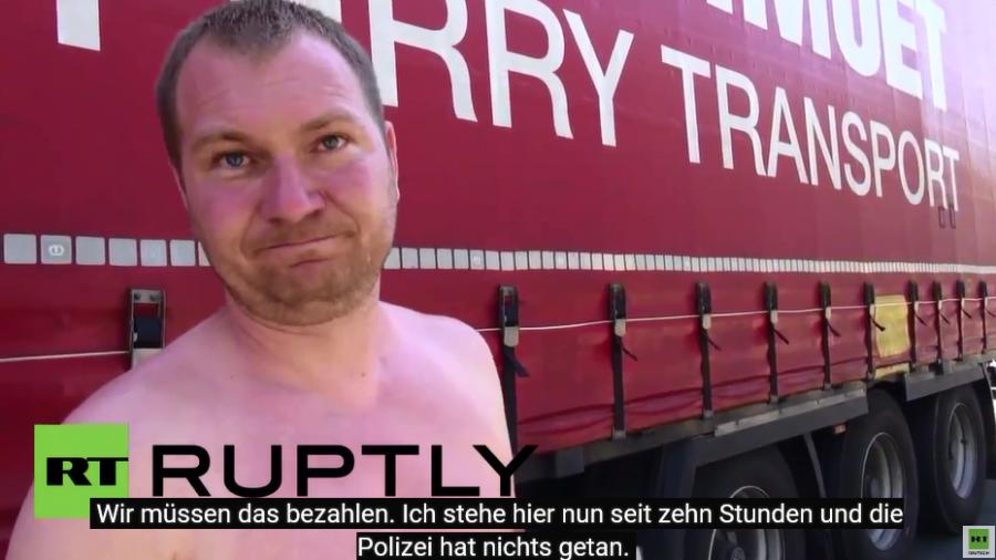 Calais: Flüchtlinge bringen LKW-Fahrer auf die Palme
