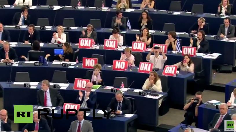 Scharfe Wortgefechte - Griechenlanddebatte spaltet das EU-Parlament