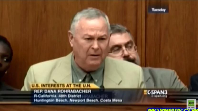 Rohrabacher drängt US-Botschafterin wegen Ukraine-Konflikt verbal in die Ecke