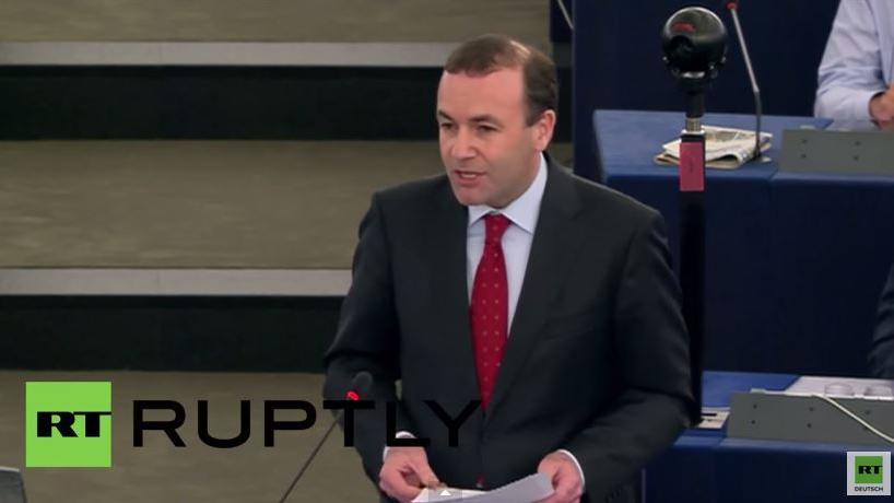 CSU-Politiker und Merkelvertreter Weber hält Hassrede gegen Tsipras im EU-Parlament