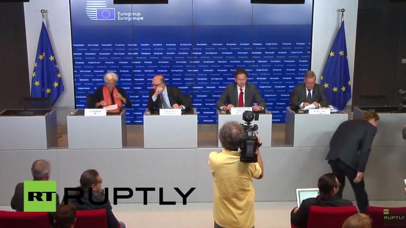 Live: Pressekonferenz nach ECOFIN-Treffen zu Griechenland - mit deutscher Übersetzung