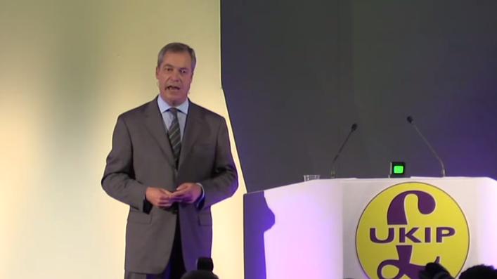 Live: UKIP-Vorsitzender Nigel Farage hält Rede um für ein Nein beim Referendum zu werben