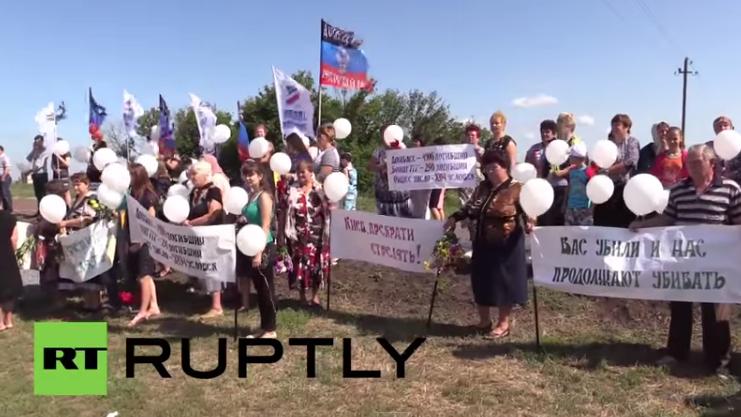 Donezk: Ein Jahr danach - Gedenkfeier für Opfer des MH17-Fluges