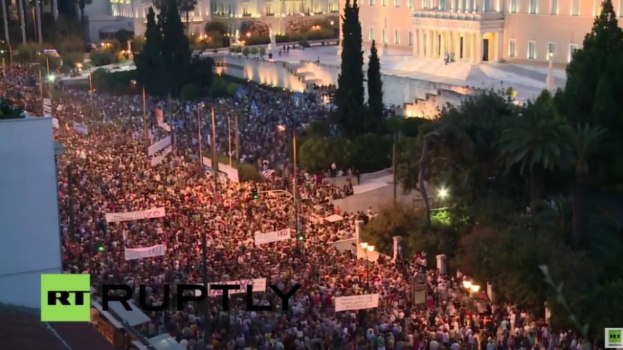 """""""Nein-Wähler"""" demonstrieren in Athen gegen Erpressung durch Gläubiger"""