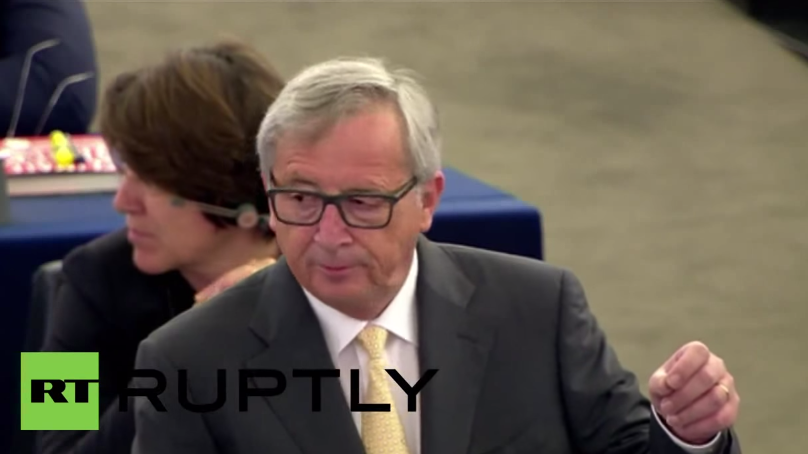 "Antwort auf Junckers Kritik am griechischen Referendum im EU-Parlament: ""The answer is no!"""
