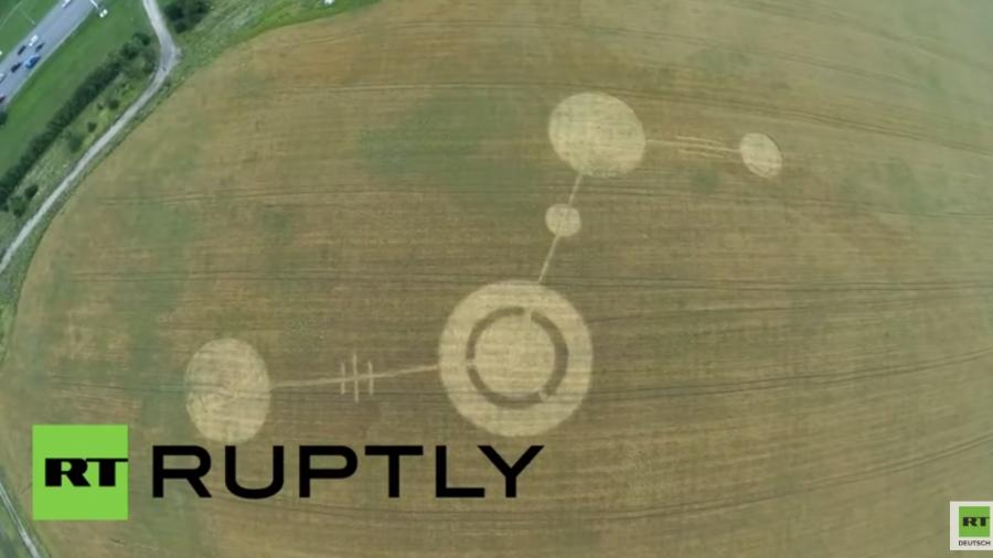 Russland: Genau nach zehn Jahren an selber Stelle Kornkreise aufgetaucht