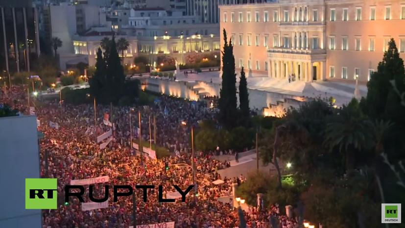 Live: Zehntausende demonstrieren in Athen ihre Solidarität mit der Regierung
