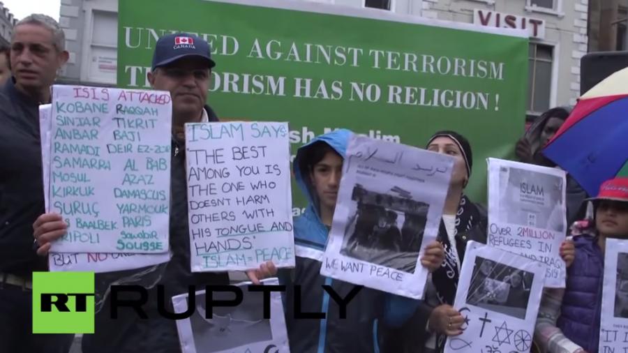 """Muslime protestieren in Irland gegen den IS: """"Nicht in unserem Namen"""""""