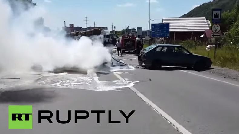 Westukraine: Zwei Menschen bei Feuereröffnung des Rechten Sektors getötet