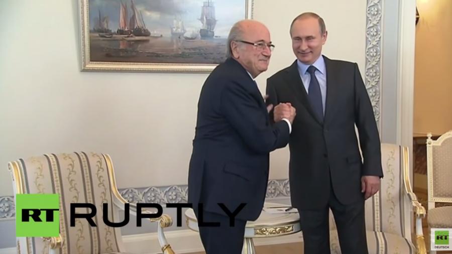 """Sepp Blatter zu Wladimir Putin: """"Die FIFA steht voll hinter Russland"""""""