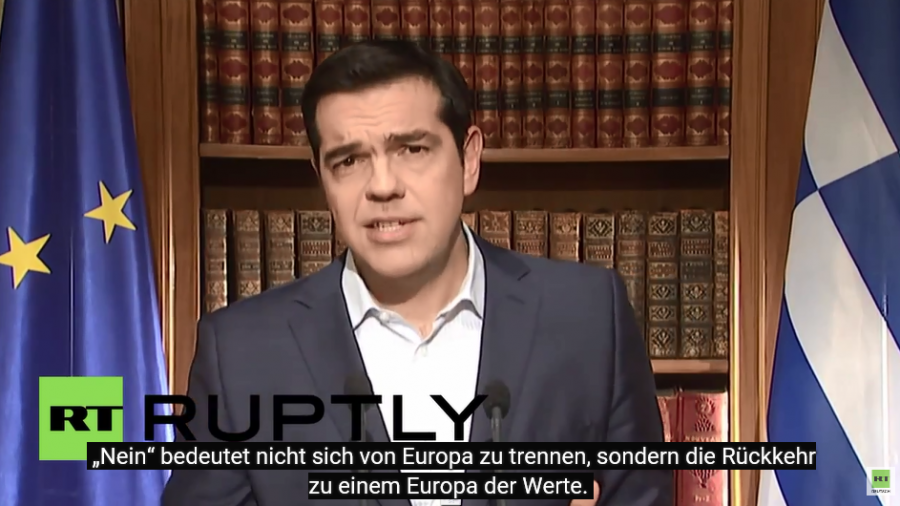 Tsipras Ansprache ans Volk für ein Europa der Werte