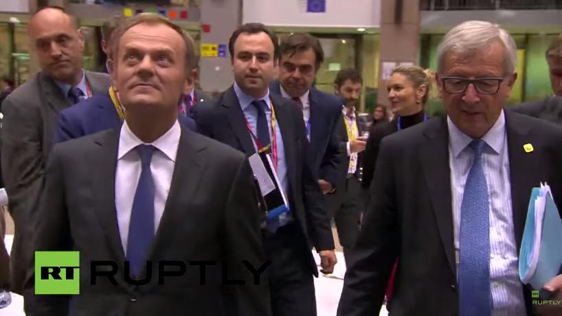 Live: Pressekonferenz zum EU-Sondergipfel zu Griechenland von Tusk und Juncker